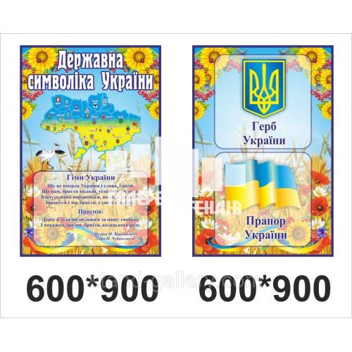 Стенди державні символи україни з картою України