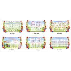Інформаційні стенди для початкових класів нуш в яскравому квітковому стилі
