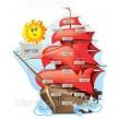 Стенд для виставки дитячих робіт: Кораблик