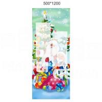 Новогоднее украшение Баннер Дед мороз и снегурочка