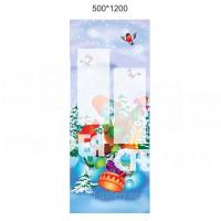 Баннер Снеговик для оформления детского сада