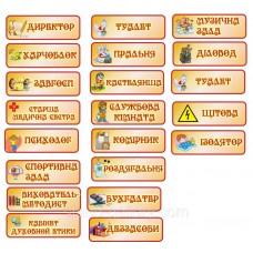 Таблички для дитячого садка на всі двері