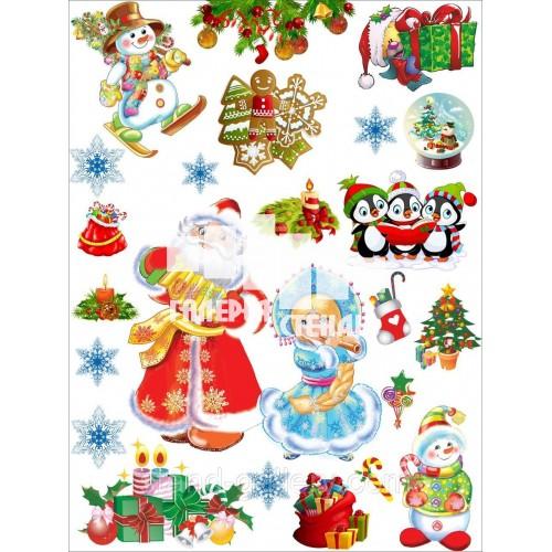 Наклейки декоративні як новорічні прикраси