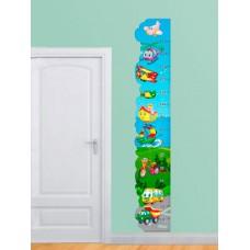 Зростомір для оформлення дитячої кімнати - самольотики