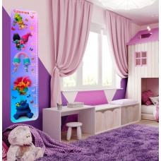Зростомір для оформлення дитячої кімнати - фіолетовий