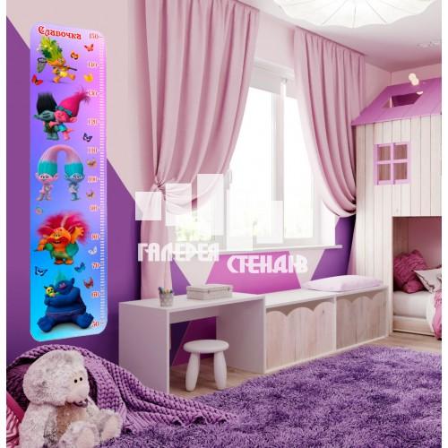 Дизайн дитячої кімнати: фіолетовий ростомір
