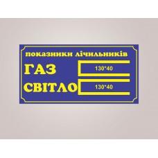 Табличка для вулиці Показники лічильників