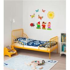 Декоративні гномики - Оформлення дитячої кімнати - наклейка