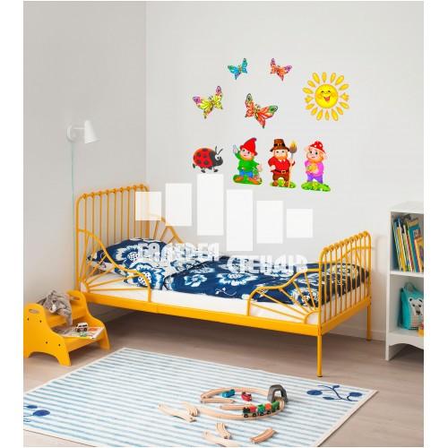 Оформлення дитячої кімнати - наклейка Декоративні гномики