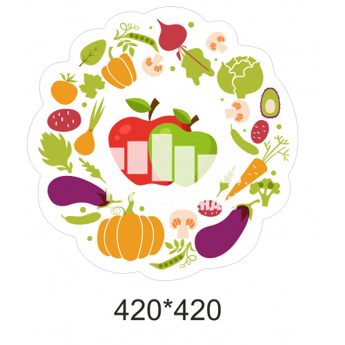 Декор для школи - овочі та фрукти