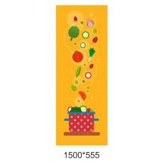 Наклейка на колону шкільної їдальні помаранчева