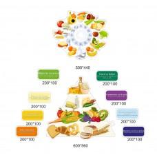 Інформаційні сучасні стенди для їдальні школи - піраміда харчування