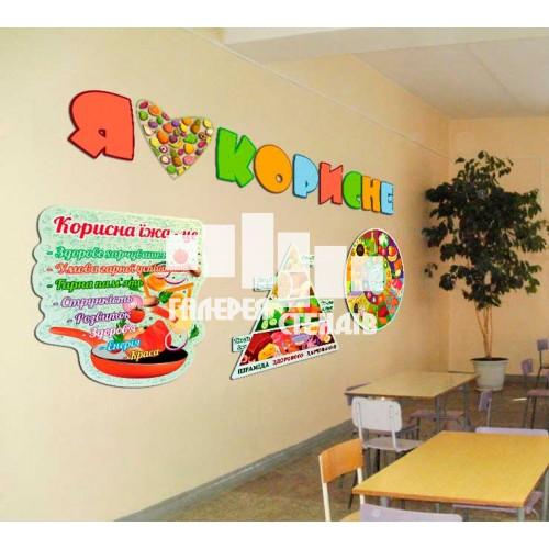 Стнди для оформлення їдальні в школі